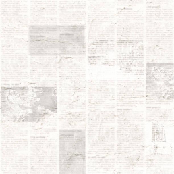 zeitung nahtlose muster mit alten vintage unlesbar papier textur hintergrund - kollagenblätter stock-fotos und bilder