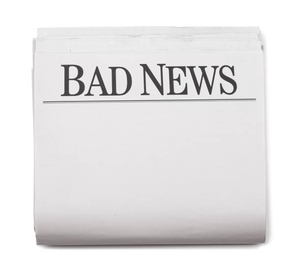 Newspaper Section Bad News! Newspaper Section Bad NewsClick here to see all of my Newspaper images: newspaper cutouts of bad news headlines stock pictures, royalty-free photos & images