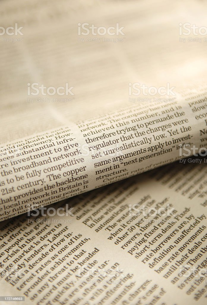 newspaper series royalty-free stock photo