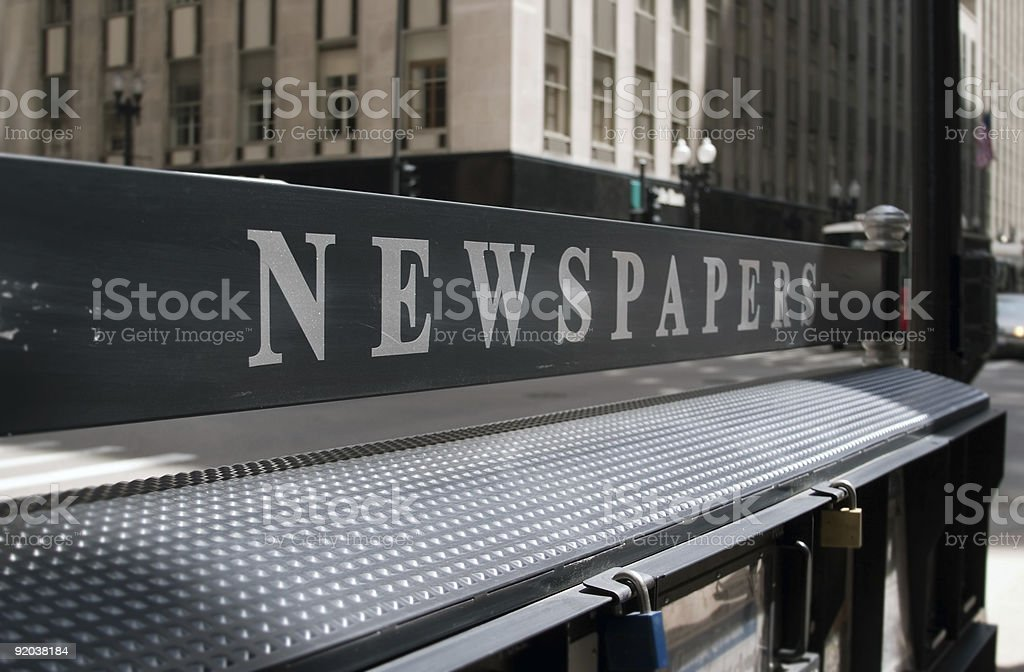 Newspaper Stand stock photo