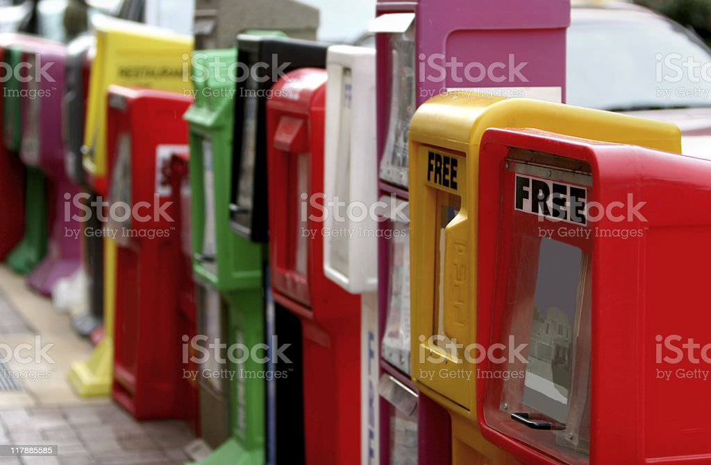 Newspaper Stands royalty-free stock photo
