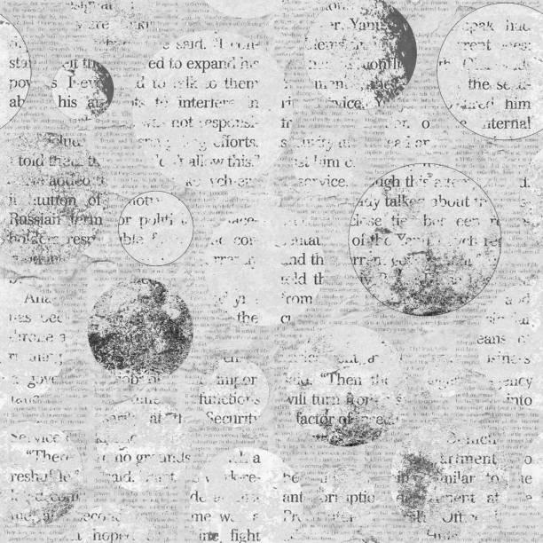 zeitung textur nahtlose hintergrund - kollagenblätter stock-fotos und bilder