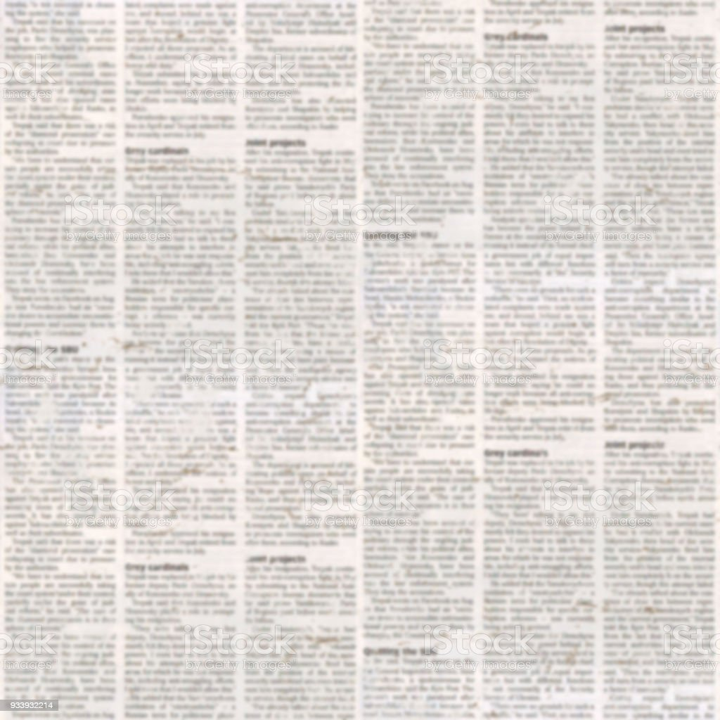 Newspaper Texture Seamless Pattern Stock Photo - Download Image Now - iStock