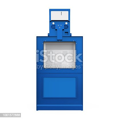 Newspaper Vending Machine isolated on white background. 3D render