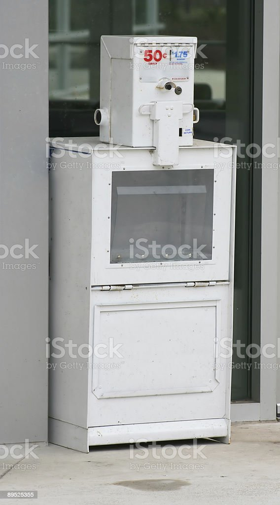 Newspaper Vending Machine royalty-free stock photo