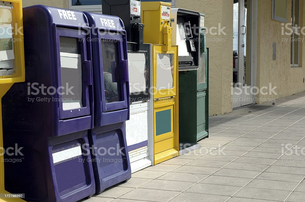Newspaper Vending Machines royalty-free stock photo