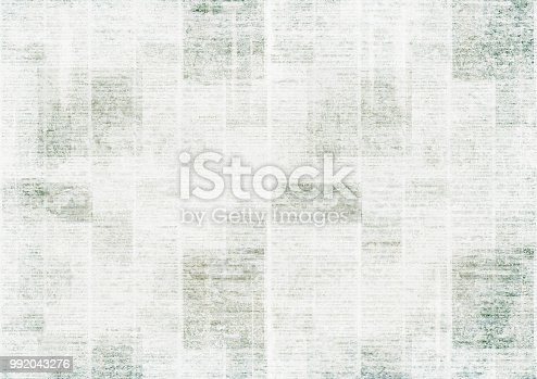 istock Newspaper vintage grunge collage background 992043276