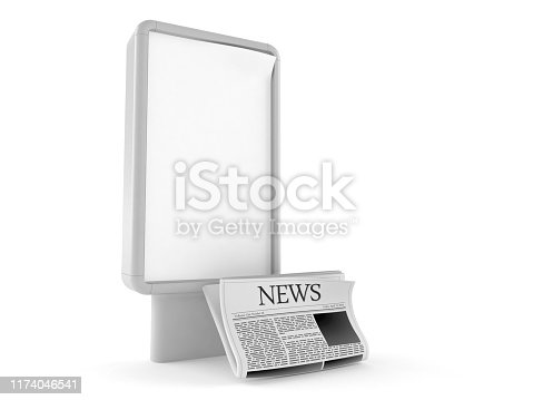 istock Newspaper with blank billboard 1174046541