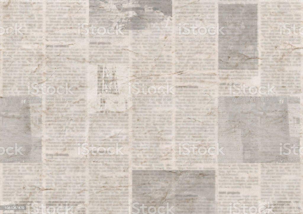 Periódico Con El Viejo Fondo De Textura De Papel Ilegible Vintage