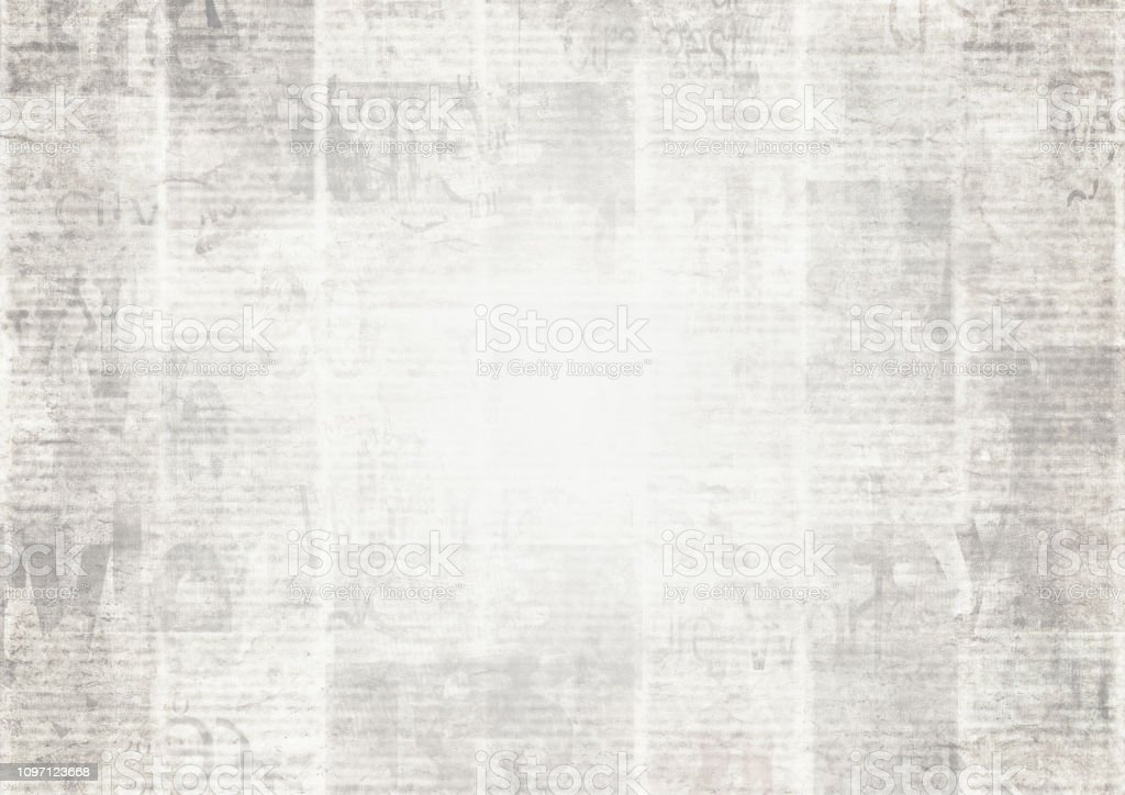 Newspaper With Old Grunge Vintage Unreadable Paper Texture ...