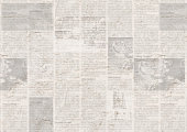 istock Newspaper with old grunge vintage unreadable paper texture background 1097123800