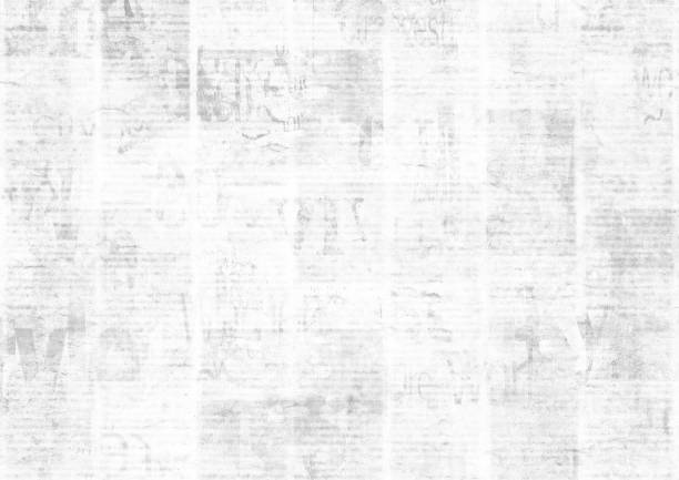 newspaper with old grunge vintage unreadable paper texture background - newspaper стоковые фото и изображения