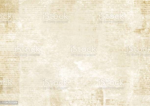Photo of Newspaper with old grunge vintage unreadable paper texture background