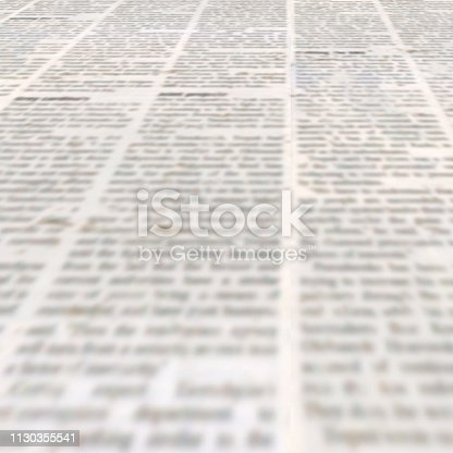 947207308istockphoto Newspaper with old vintage unreadable paper texture background 1130355541