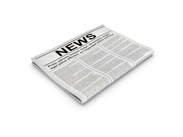Zeitung mit weißem Hintergrund. – Foto