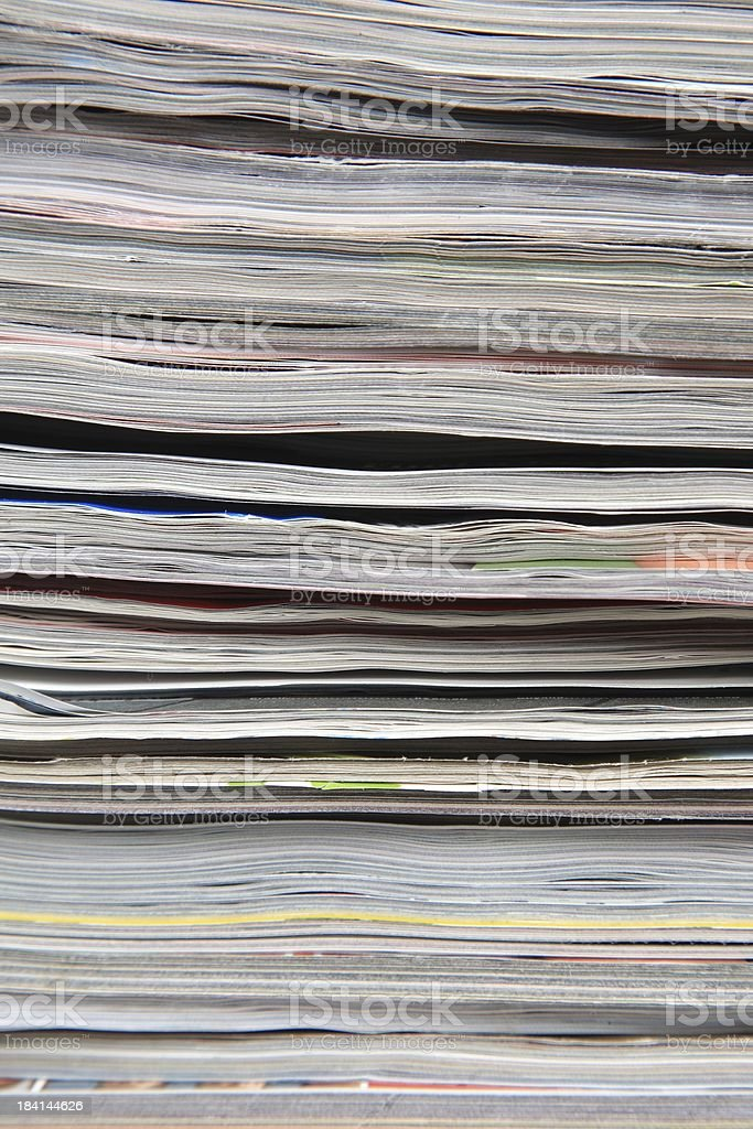 Newspapers and magazines royalty-free stock photo