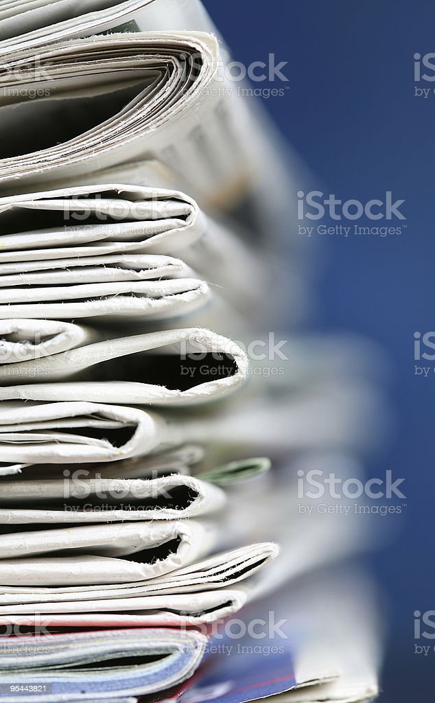Newspapers concept stock photo