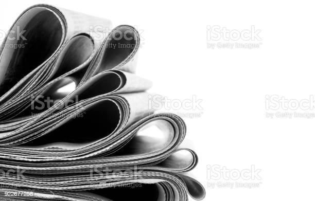 Zeitungen Gefaltet Und Gestapelt Stockfoto und mehr Bilder von Armreif