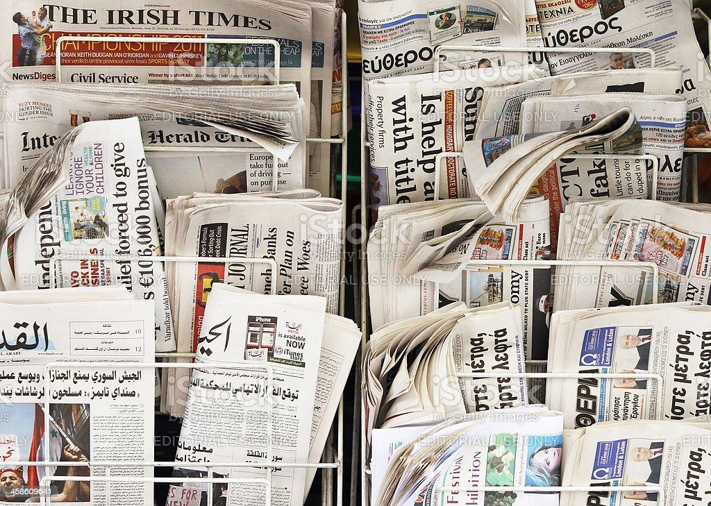 Zeitungen aus aller Welt – Foto