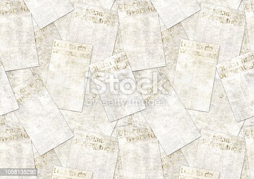 947207308istockphoto Newspapers old vintage grunge collage textured background 1058135292
