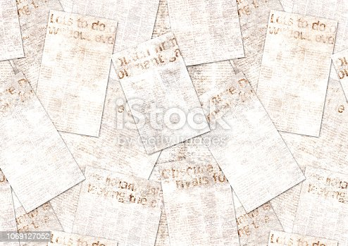 947207308istockphoto Newspapers old vintage grunge collage textured background 1069127052