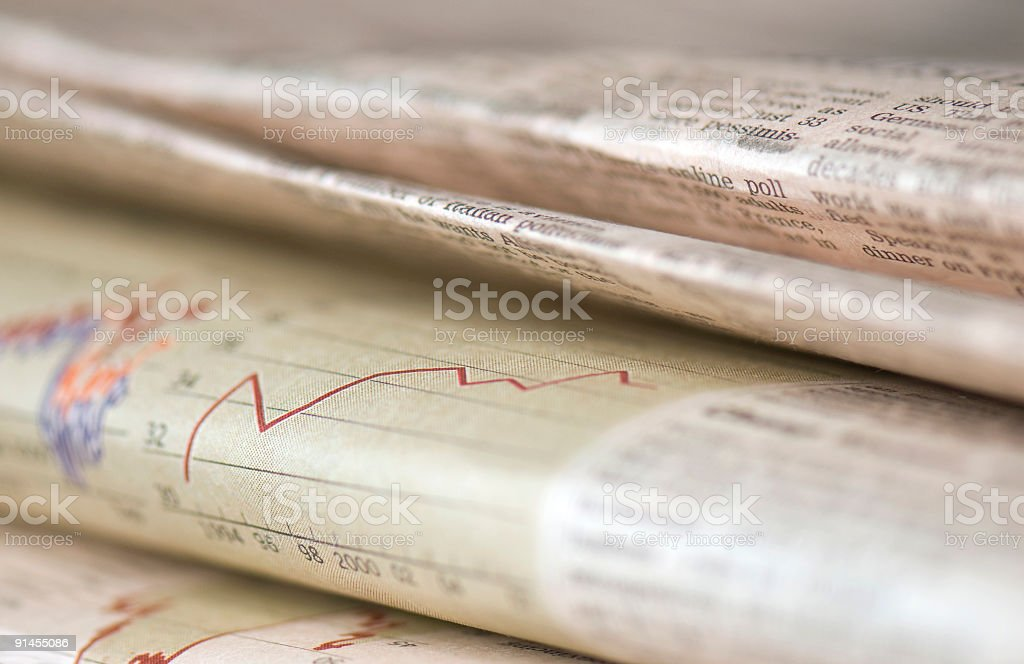 Newspapers on Table royalty-free stock photo