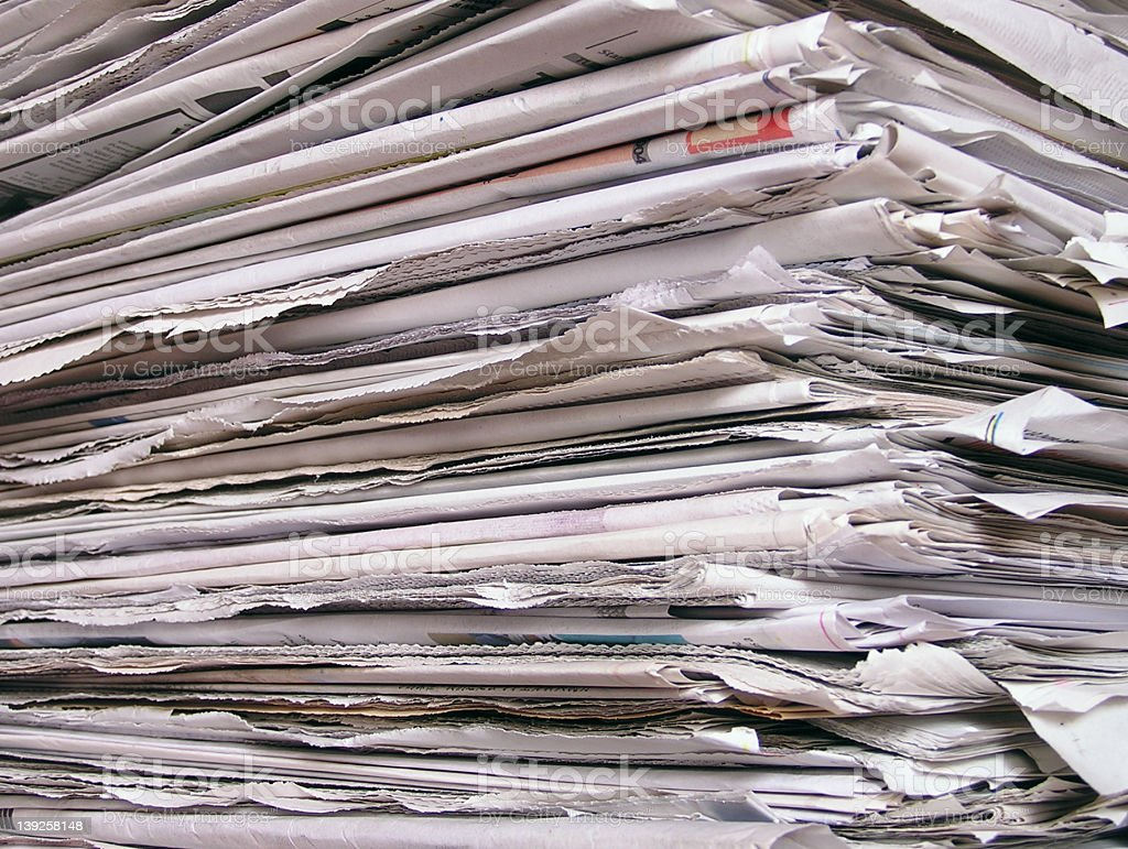 newspapers #2 royalty-free stock photo