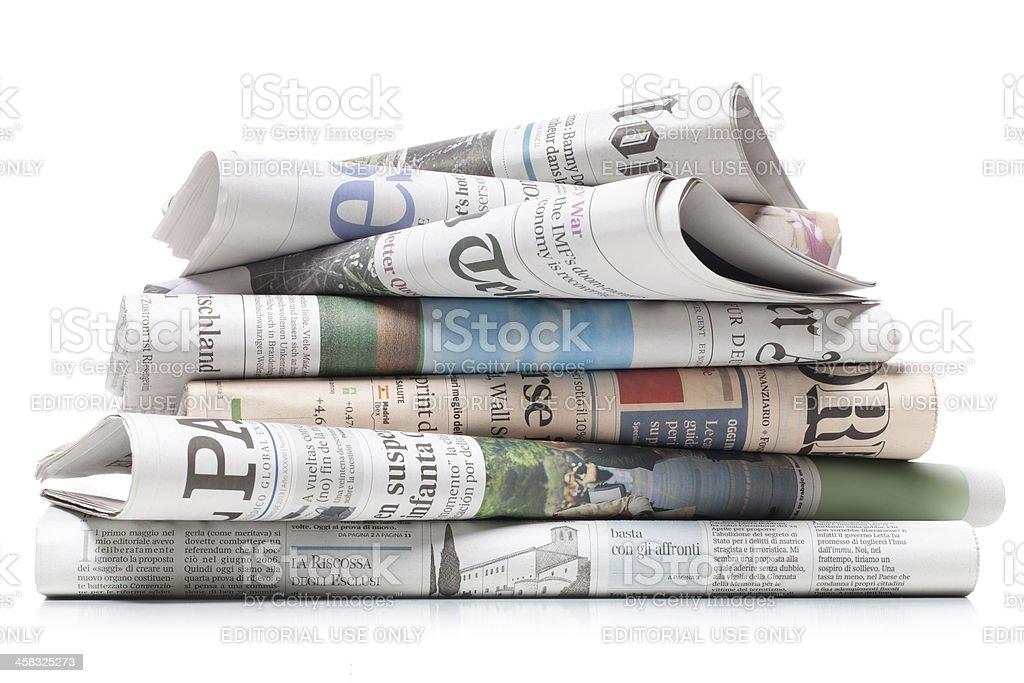 Zeitungen - Lizenzfrei Buchseite Stock-Foto