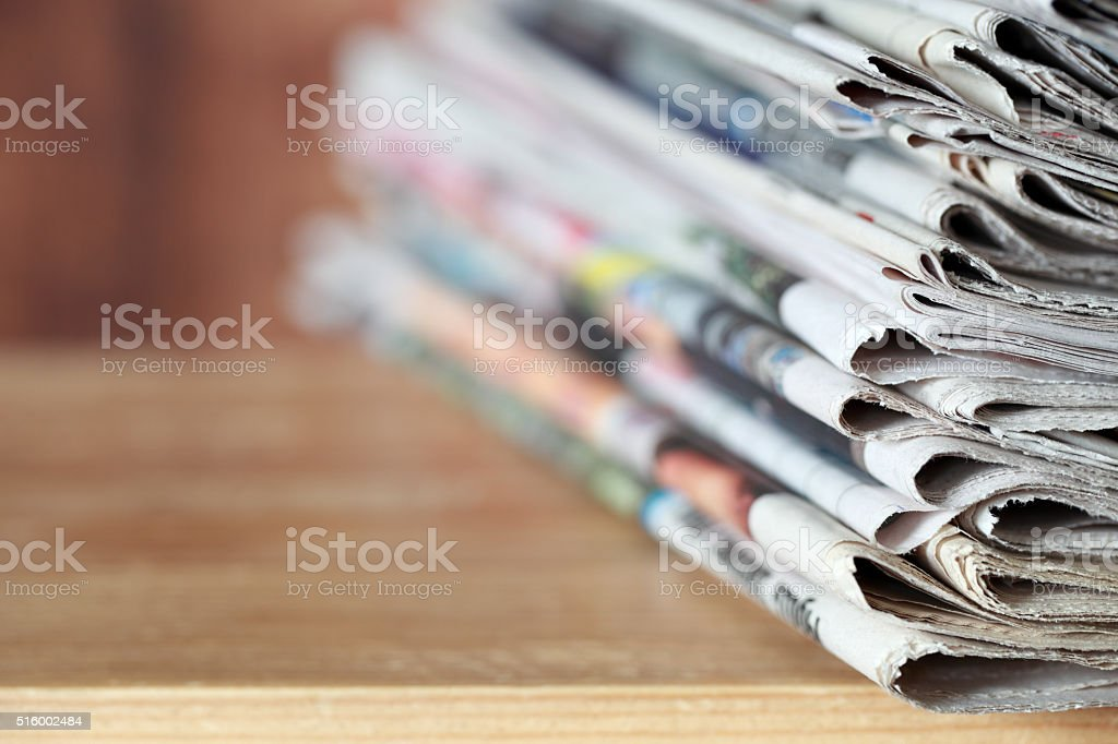 Newspapers stock photo