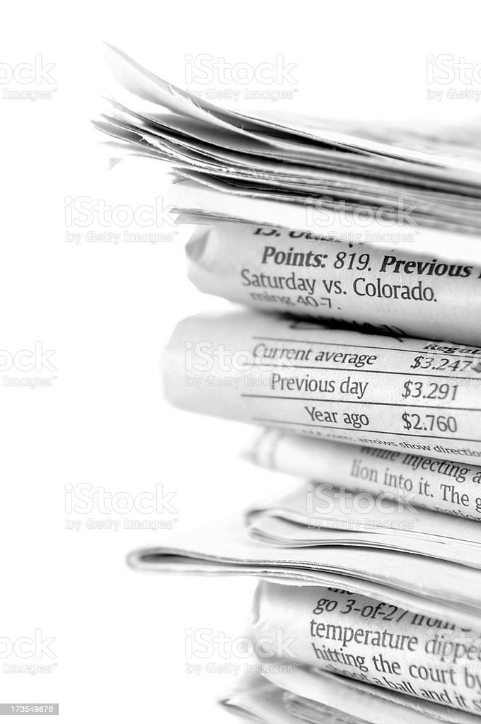 Newspapers stack royalty-free stock photo