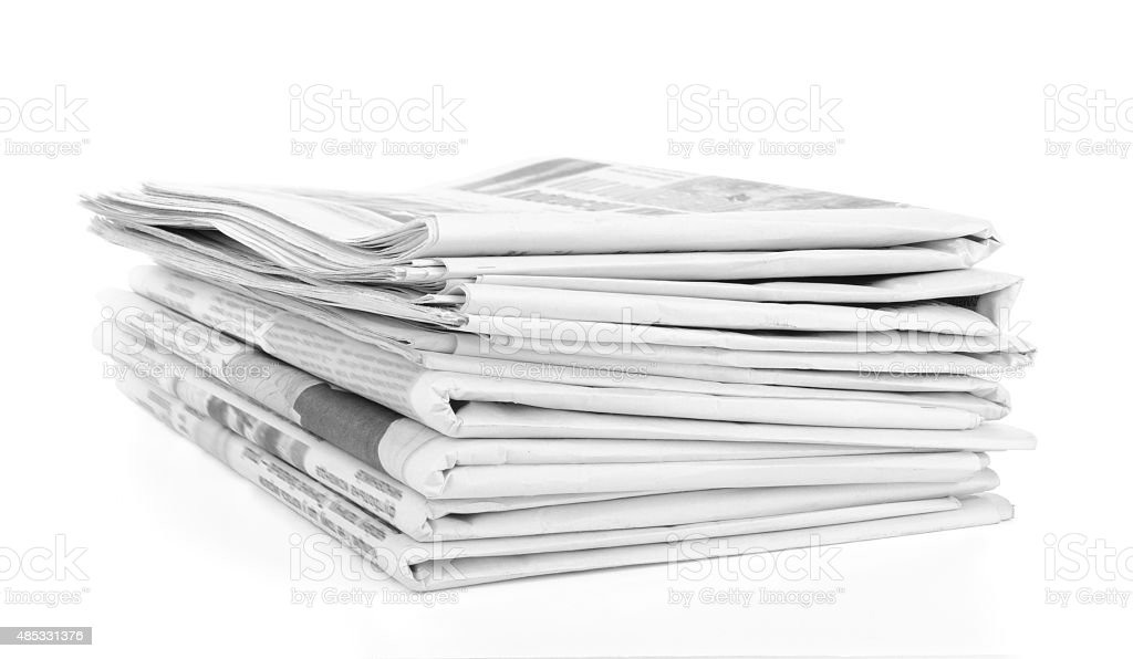Newspapers stack. stock photo