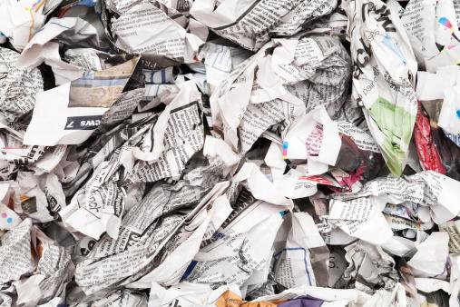 Newsprint backdrop