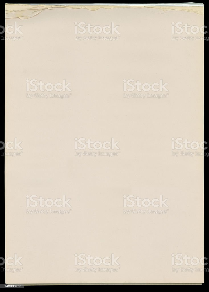 Newsprint paper pad with torn edges royalty-free stock photo