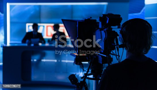 istock Newsreaders In Television Studio 1059228072