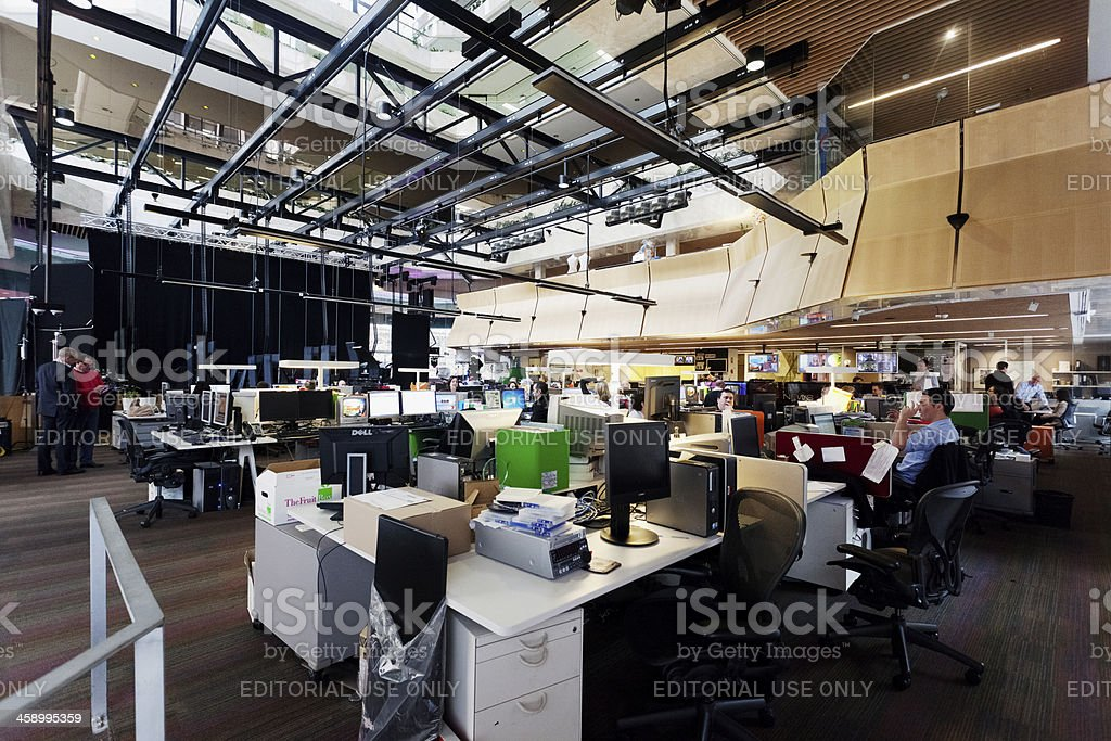 TV newsroom - Channel 7 Sydney stock photo