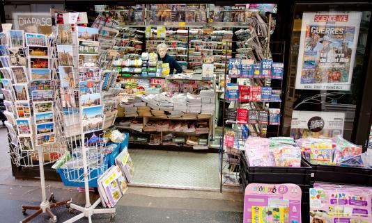 Newsstand in Paris
