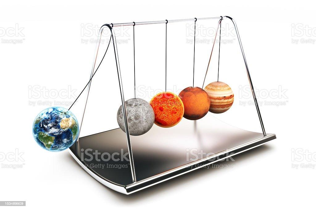 Newton balls concept royalty-free stock photo