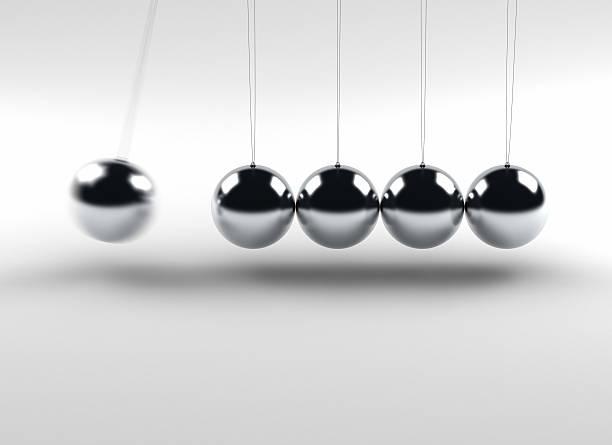 newton balls - pendulum stock photos and pictures