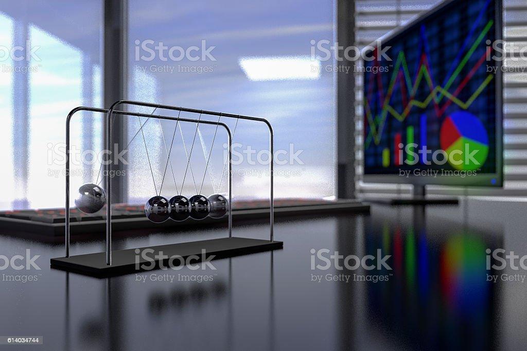 Newton pendulum stock photo