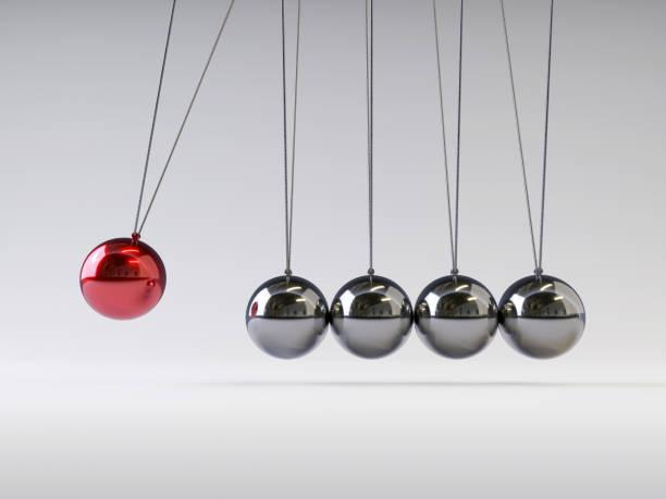 newton's wieg - physics stockfoto's en -beelden