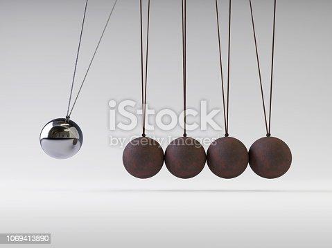 istock Newton's Cradle 1069413890