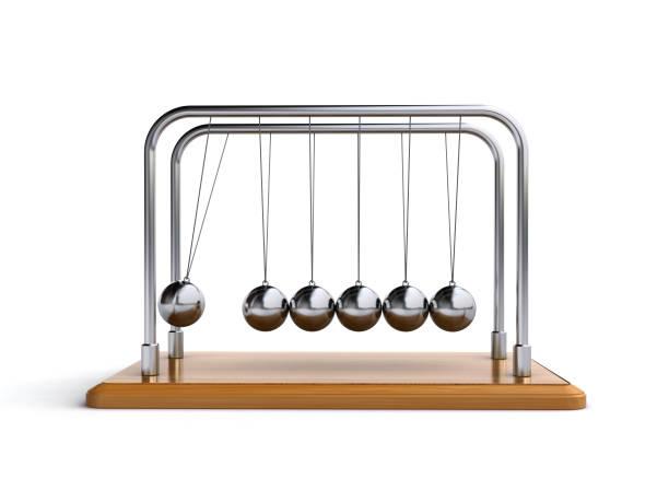 newton's cradle - pendulum stock photos and pictures