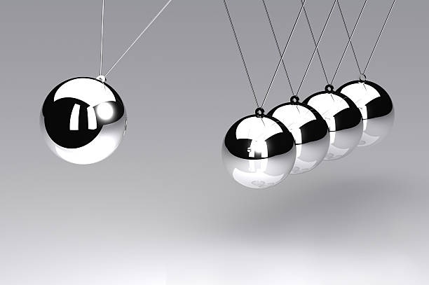 newtons cradle - perpetual motion stock photos and pictures