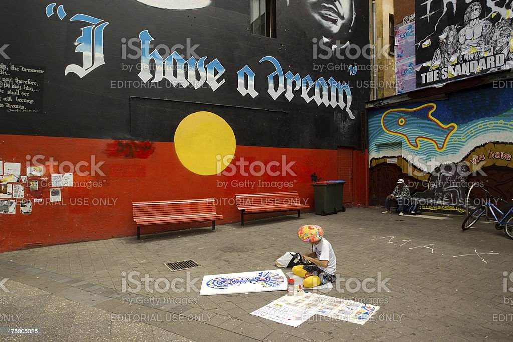 Newtown - Martin Luther King Mural stock photo
