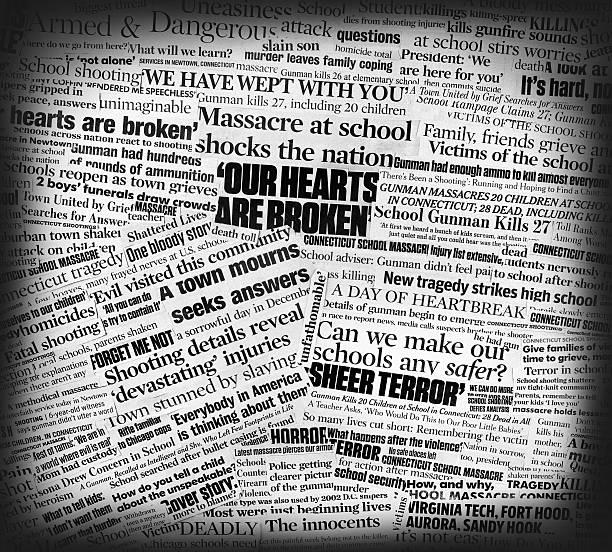 Newtown école massacre journal collage - Photo