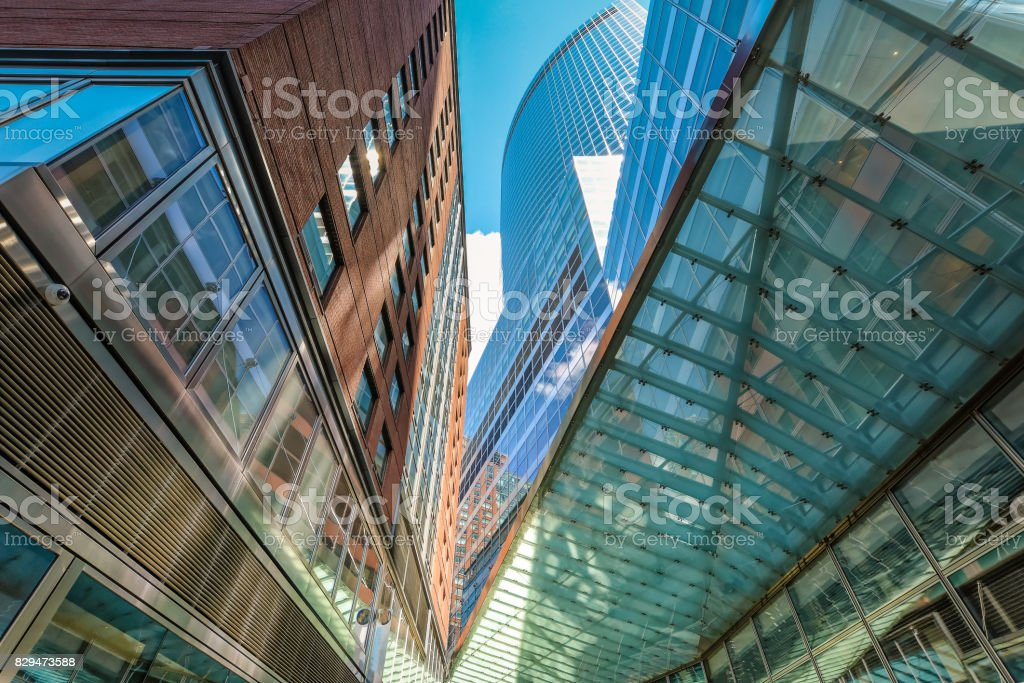 New-York buildings view from street stock photo