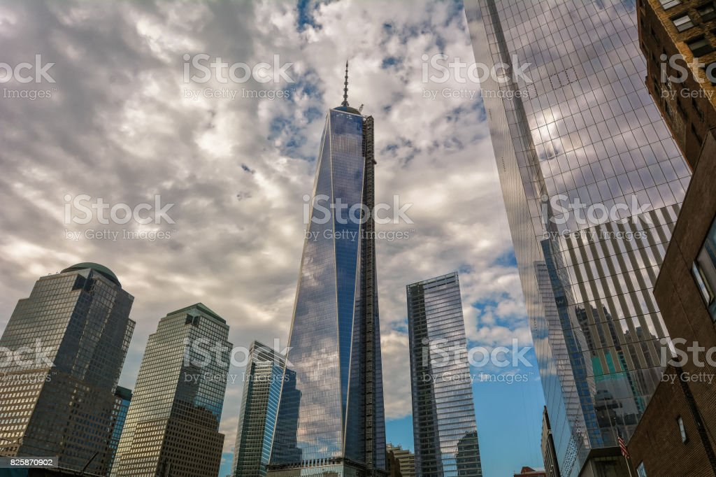 New-York buildings with Freedom Tower stock photo