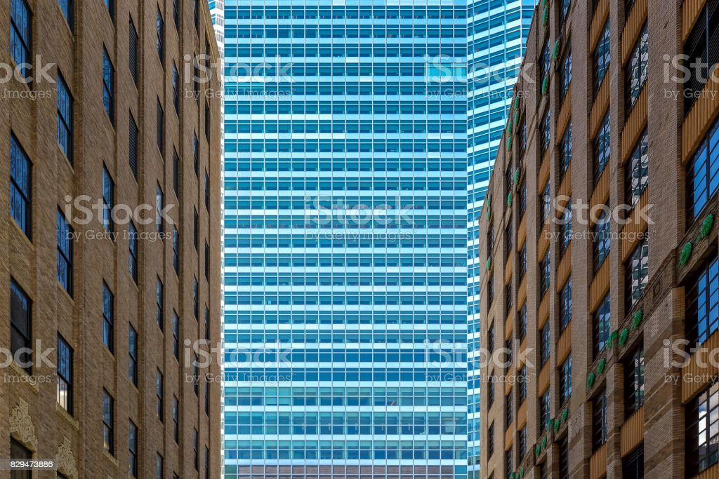 New-York Old and New buildings stock photo