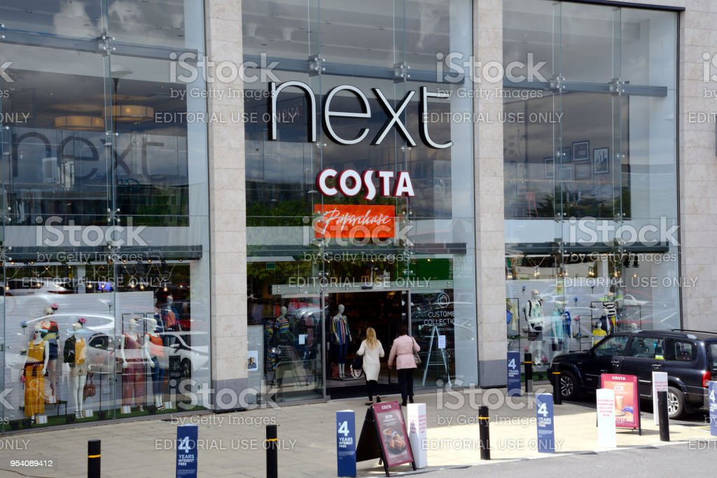 Next and Costa Store stock photo