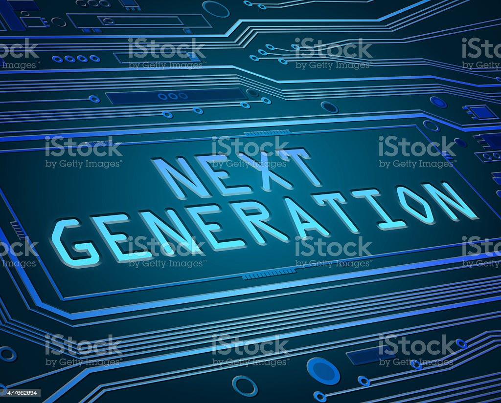 Next generation concept. stock photo